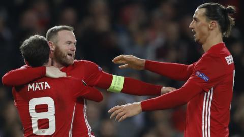 Zlatan Ibrahimovic, Juan Mata and Wayne Rooney