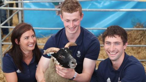 Eve Muirhead, Tom Muirhead and Glen Muirhead