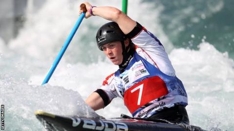 Great Britain canoeing team's Kimberley Woods