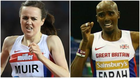 Laura Muir and Mo Farah