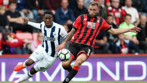 Action from Bournemouth v West Brom