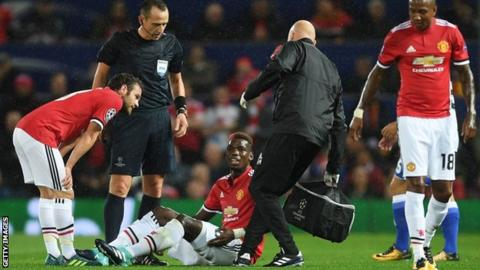 Pogba has 'long-term' injury, United manager Mourinho says