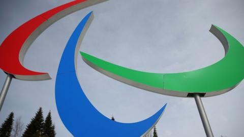 The Paralympic Agitos symbol