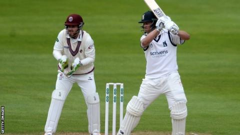 Jonathan Trott passed 50 for the 123rd time in his first-class career at Taunton