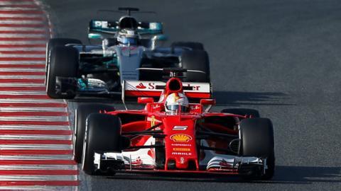 Vettel and Bottas