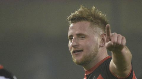 David Cushley hit Crusaders' late winner against Dungannon Swifts