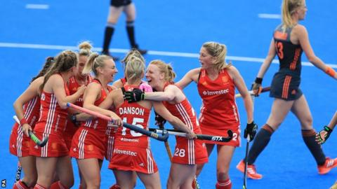 Alex Danson is congratulated on scoring her 100th international goal
