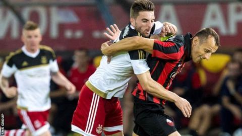 Aberdeen drew 1-1 with Shkendija in Skopje