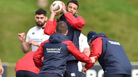 Lions in training ahead of Hurricanes clash