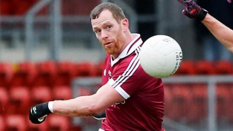 Slaughneil goalscorer Patsy Bradley