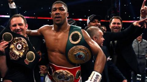 Joshua is undefeated in 19 professional fights