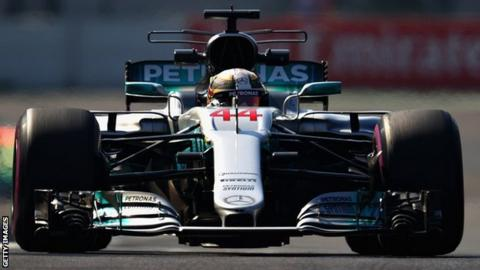 Lewis Hamilton second quickest in Mexican Grand Prix first practice