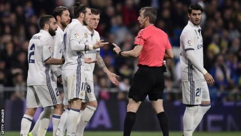 Gareth Bale (third from left)