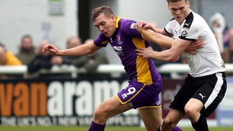 Cheltenham striker Danny Wright