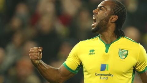 Norwich City striker Cameron Jerome