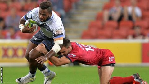Solomoni Junior Rasolea playing for Western Force against Queensland Reds