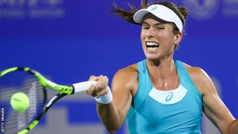 Briton Konta and US Open champion Stephens out of Wuhan Open