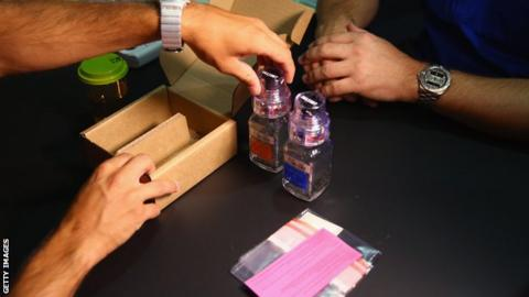 General picture of a doping test