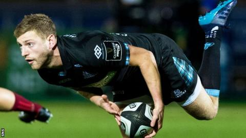 Glasgow Warriors' fly-half Finn Russell