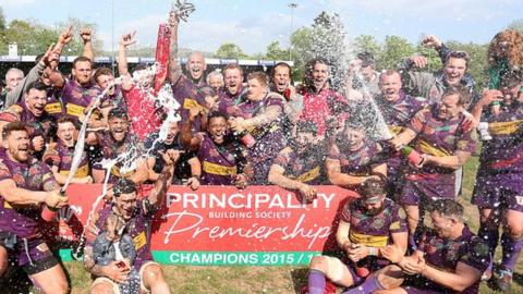 Ebbw Vale were the 2016 Principality Premiership champions