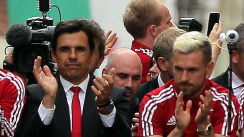 Chris Coleman and Aaron Ramsey