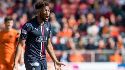 Falkirk striker Myles Hippolyte