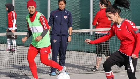 Afghanistan women's football captain Khalida Popal