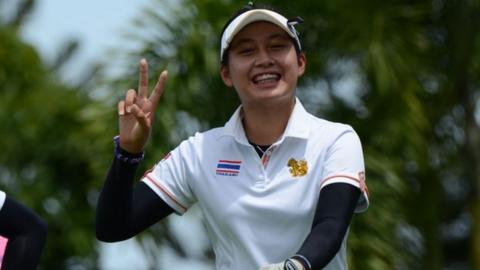 Atthaya Thitikul, 14, in contention to become youngest ever professional victor