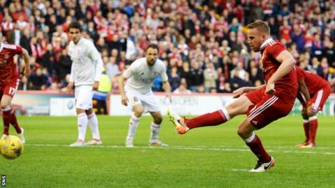 Adam Rooney scored a late penalty