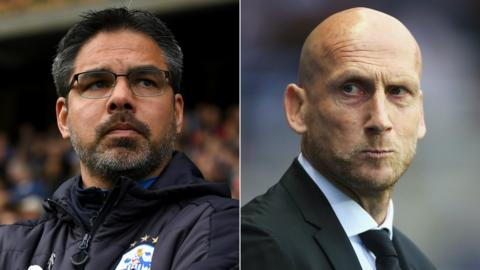 Huddersfield Town head coach David Wagner and Reading manager Jaap Stam