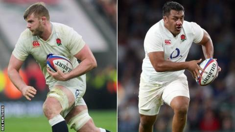 George Kruis and Mako Vunipola
