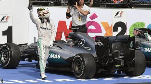 Hamilton storms to pole in Mexico