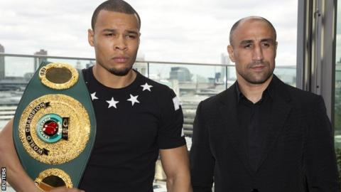 Eubank Jr (left) meets Abraham at Wembley Arena on 15 July
