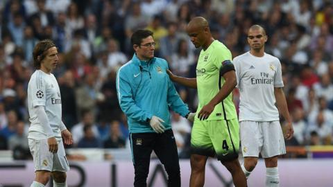Manchester City captain Vincent Kompany will miss his side's final two games of the season.