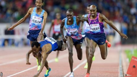 Mo Farah wins his final track race in Zurich Diamond League event