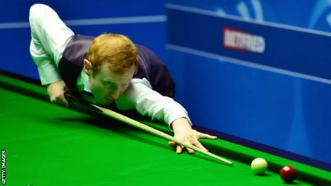 Anthony McGill playing at the World Snooker Championship at The Crucible Theatre in Sheffield last year.