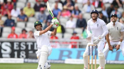Younus Khan caught at long on by Alexc Hales