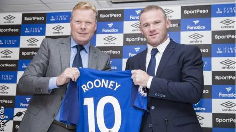 Rooney and manager Ronald Koeman addressed the media at Goodison Park