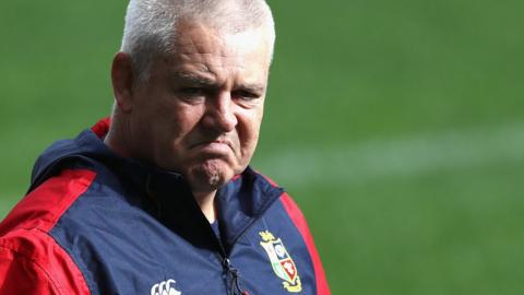 Warren Gatland coaching the British and Irish Lions in New Zealand