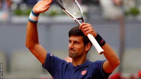 Djokovic advances to Madrid semifinals; Nishikori withdraws