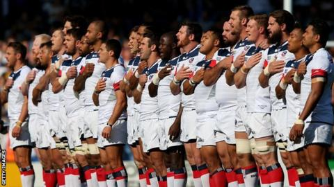 The United States lost 39-16 to Scotland in the pool stage of the 2015 World Cup
