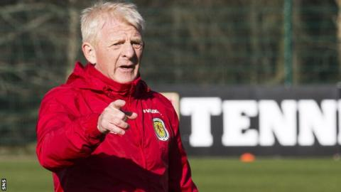 Scotland manager Gordon Strachan is under pressure going into the match against Slovenia