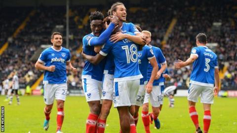 Portsmouth celebrate goal