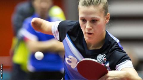Polish table tennis player Natalia Partyka