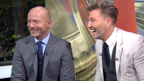 Alan Shearer and Robbie Savage