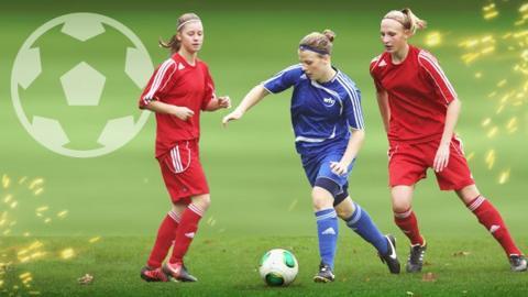 Women playing football