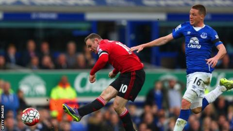 Wayne Rooney scored in Manchester United's 3-0 win at Goodison Park in October.