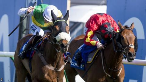 Sam Twiston-Davies rides Vicente to victory at Ayr