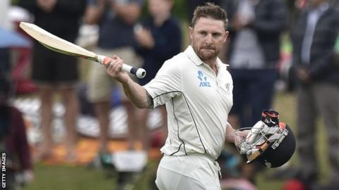 New Zealand cricket captain Brendon McCullum