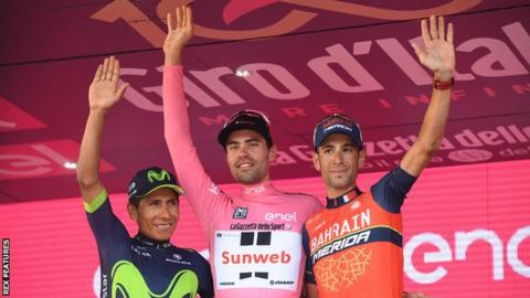 Dutch rider Tom Dumoulin of the Sunweb Team won the 2017 Giro d'Italia